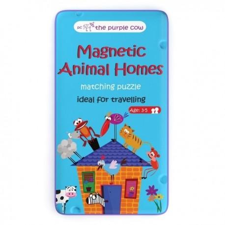 Gra podróżna dla dziecka PUZZLE - Zwierzęta i ich domy