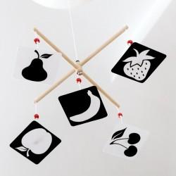 Karuzela kontrastowa wymienna OWOCE Montessori