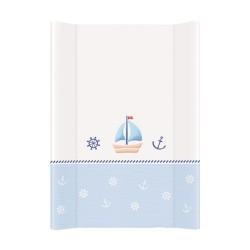 Przewijak na łóżeczko 50x70cm - Marynarski Biało-niebieski