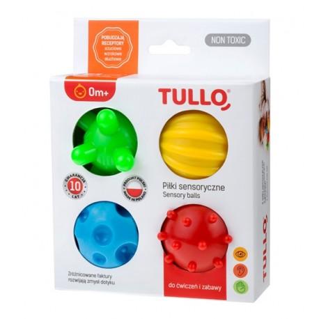 Edukacyjne PIŁECZKI SENSORYCZNE 4szt. Tullo