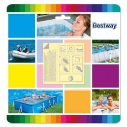 Wodoodporne łatki naprawcze do artykułów dmuchanych Bestway