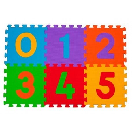 Puzzle piankowe 6szt. CYFRY BabyOno