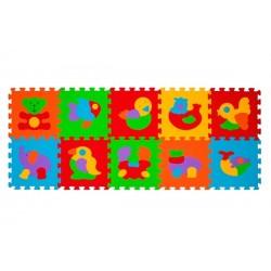 Puzzle piankowe 10szt. ZWIERZĘTA BabyOno