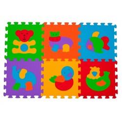Puzzle piankowe 6szt. ZWIERZĘTA BabyOno