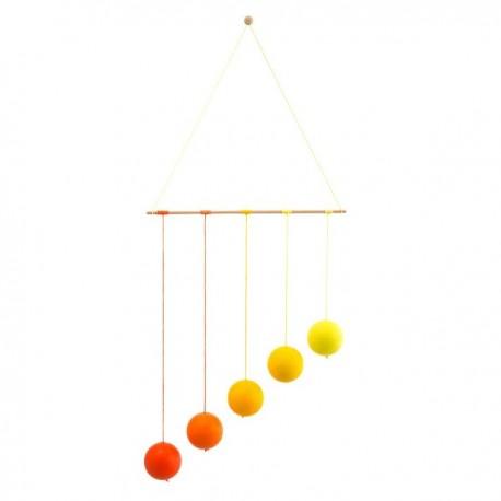 Mobil Montessori GOBBI żółty - Wdzięk i prostota