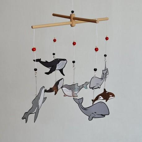 Karuzela wymienna Montessori WIELORYBY