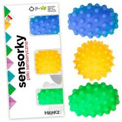 Piłeczki sensoryczne Zestaw 3szt. Hencz Toys