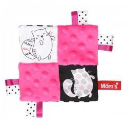 Mini przytulanka Szeleścik Różowy Mom's Care