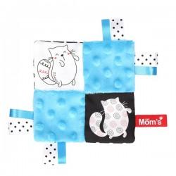 Mini przytulanka dla niemowląt Niebieska Mom's Care
