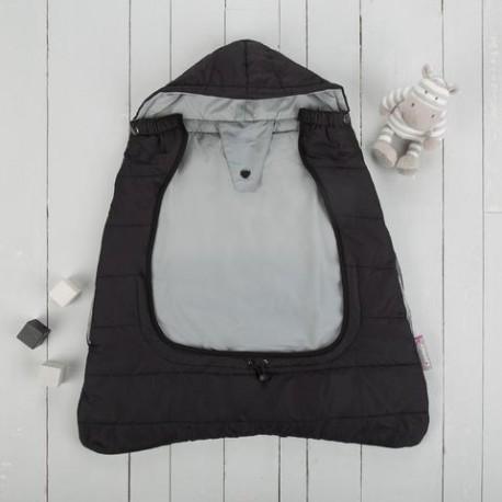 Śpiworek do nosidła/wózka 2w1 Comfi-Cape czarny CuddleCo