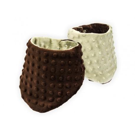 Dwustronna Apaszka Minky czekolada / beż