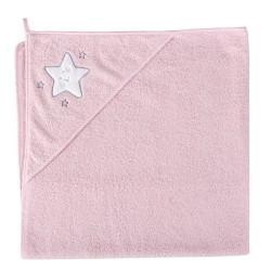 Ręcznik z kapturkiem GWIAZDKA RÓŻOWA Ceba