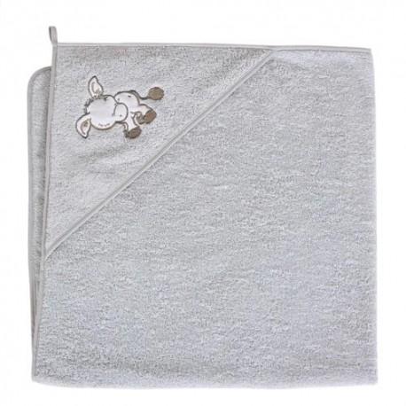 Ręcznik z kapturkiem OSIOŁEK SZARY Ceba