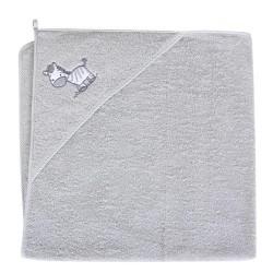 Ręcznik z kapturkiem ZEBRA SZARA Ceba