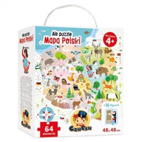 Ale puzzle MAPA POLSKI 4+ CzuCzu