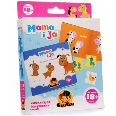 Puzzle MAMA I JA + książeczka 18 mies+ CzuCzu