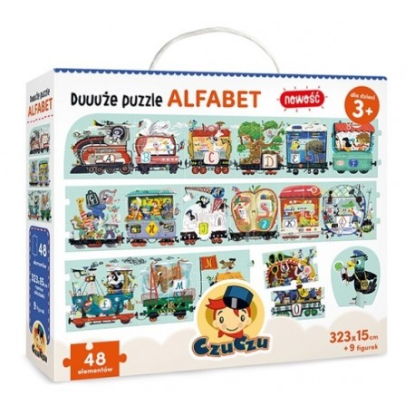 Duuuże puzzle ALFABET 3+ CzuCzu