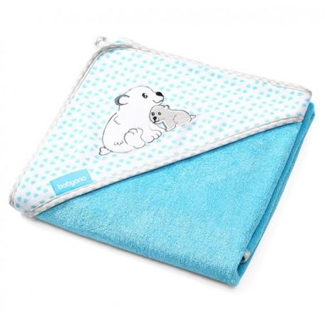 Ręcznik bambusowy z kapturkiem niebieski BabyOno