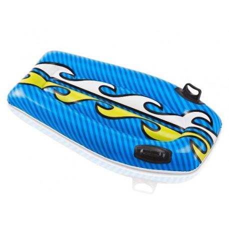 Deska do pływania niebieska z płomieniami Intex
