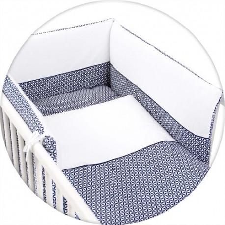 Pościel do łóżeczka z ochraniaczem jersey ROZETKI