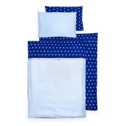 Pościel do łóżeczka 90x120 GWIAZDKI GRANAT