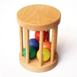 Cylinder z kulkami - zabawki Montessori