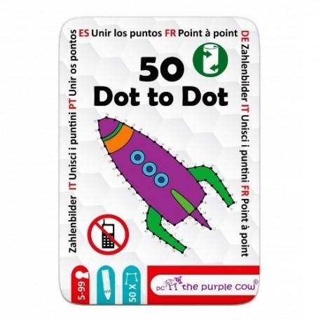 Łamigłówki dla dzieci 50 POŁĄCZ KROPKI The Purple Cow