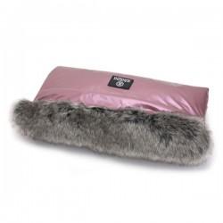 Mufka do wózka Metalic Pink  Makaszka