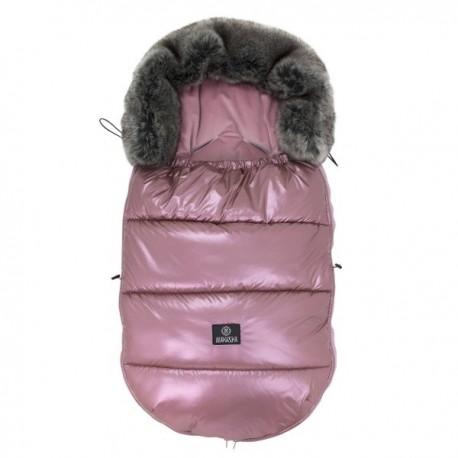 Śpiworek do wózka 12-36m Metalic Pink Makaszka