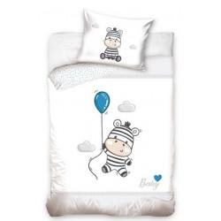 Pościel do łóżeczka Zebra Szara Carbotex