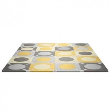 Puzzle piankowe Grey/Gold 20szt SKIP HOP