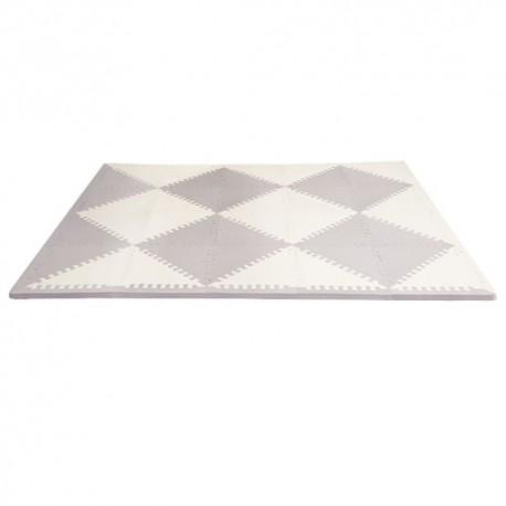 Puzzle piankowe Grey/Cream GEO 40szt SKIP HOP