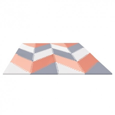 Puzzle piankowe Grey/Peach GEO 40szt SKIP HOP