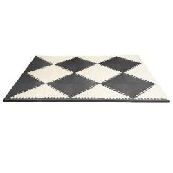 Puzzle piankowe Black/Cream GEO 40szt SKIP HOP