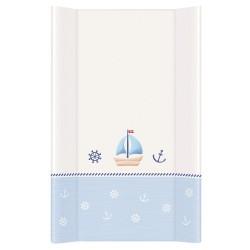 Przewijak na łóżeczko 50x80cm - Marynarski Biało-niebieski
