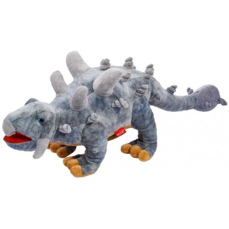 Dinozaur Ankylozaur szary 61cm Beppe
