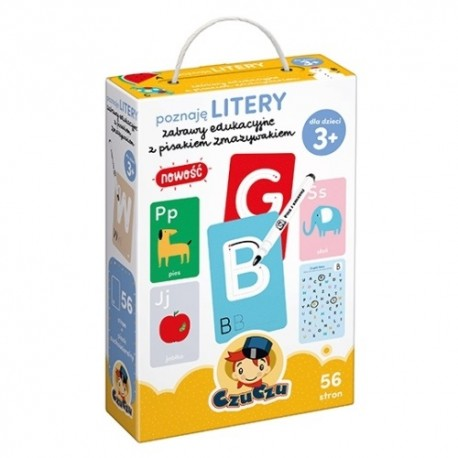 Poznaję LITERY Zabawy edukacyjne dla dzieci 3+ CzuCzu