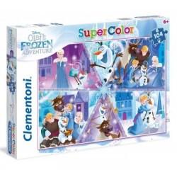 Puzzle dla dzieci Frozen Przygody Olafa 104-el Clementoni