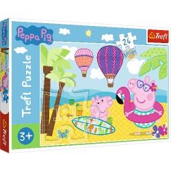 Puzzle dla dzieci Świnka Peppa na wakacjach Trefl
