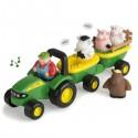 Grający traktor ze zwierzątkami John Deere TOMY