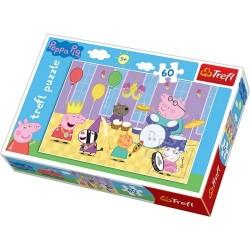 Puzzle dla dzieci Świnka Peppa na balu Trefl