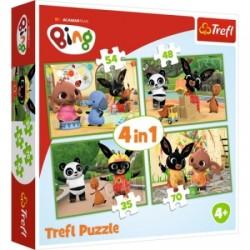 Puzzle dla dzieci Wesoły dzień BINGA Trefl