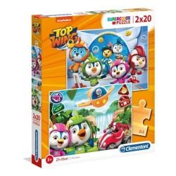 Puzzle dla dzieci Top Wing 2x20-el. Clementoni