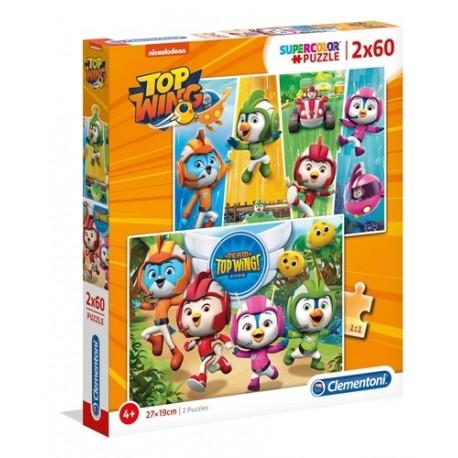 Puzzle dla dzieci Top Wing 2x60 Clementoni