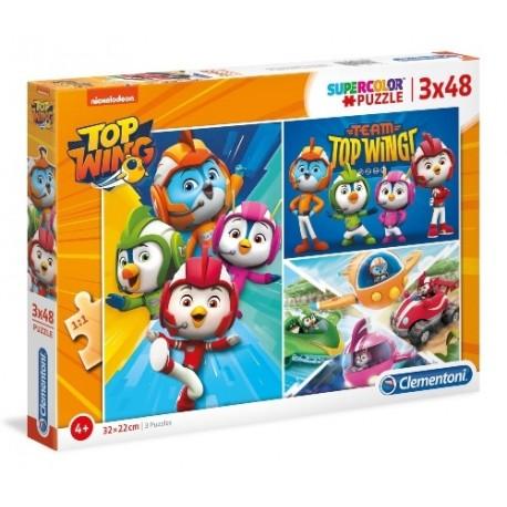 Puzzle dla dzieci Top Wing 3x48 Clementoni