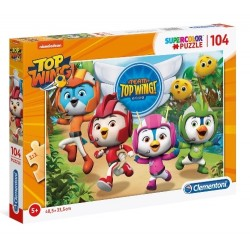 Puzzle dla dzieci Team Top Wing 104-el. Clementoni