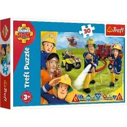 Puzzle STRAŻAK SAM Gotowi by pomagać Trefl