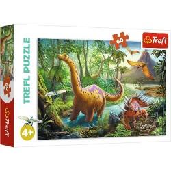 Puzzle DINOZAURY Wędrówka dinozaurów Trefl