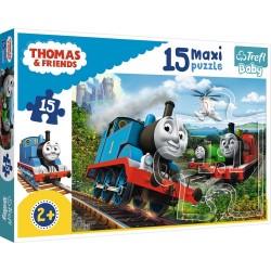 Puzzle Maxi Tomek Pędzące lokomotywy Trefl