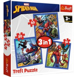 Puzzle Spiderman Pajecza siła 3w1 Trefl